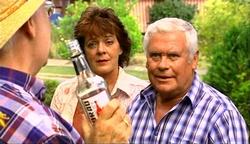 Harold Bishop, Mishka Schneiderova, Lou Carpenter in Neighbours Episode 4974