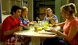 Stingray Timmins, Janae Timmins, Bree Timmins, Janelle Timmins in Neighbours Episode 4974