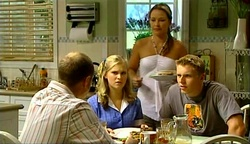 Max Hoyland, Janae Timmins, Steph Scully, Boyd Hoyland in Neighbours Episode 4974