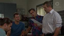Tyler Brennan, Mark Brennan, Aaron Brennan, Toadie Rebecchi in Neighbours Episode 7599