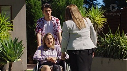 Ben Kirk, Piper Willis, Terese Willis in Neighbours Episode 7601