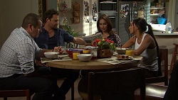 Toadie Rebecchi, Shane Rebecchi, Dipi Rebecchi, Mishti Sharma in Neighbours Episode 7602