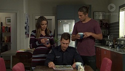 Paige Novak, Mark Brennan, Tyler Brennan in Neighbours Episode 7602
