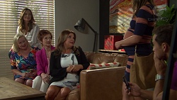 Amy Williams, Sheila Canning, Susan Kennedy, Terese Willis, Paige Novak, Aaron Brennan in Neighbours Episode 7604