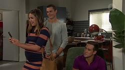 Paige Smith, Jack Callahan, Aaron Brennan in Neighbours Episode 7604