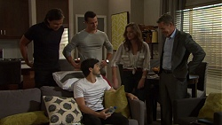 Leo Tanaka, Jack Callaghan, Amy Williams, Paul Robinson, David Tanaka in Neighbours Episode 7605