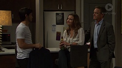 David Tanaka, Amy Williams, Paul Robinson in Neighbours Episode 7605