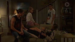 Tyler Brennan, Xanthe Canning, Ben Kirk, Piper Willis in Neighbours Episode 7605