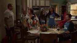 Toadie Rebecchi, Angie Rebecchi, Kirsha Rebecchi, Yashvi Rebecchi, Mishti Sharma, Shane Rebecchi in Neighbours Episode 7606