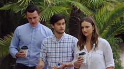 Jack Callahan, David Tanaka, Amy Williams in Neighbours Episode 7606