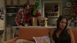 Shane Rebecchi, Dipi Rebecchi, Mishti Sharma in Neighbours Episode 7607