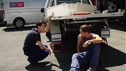 Ben Kirk, Tyler Brennan in Neighbours Episode 7607