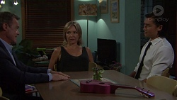 Paul Robinson, Steph Scully, Leo Tanaka in Neighbours Episode 7607