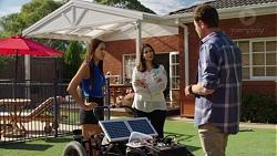 Mishti Sharma, Dipi Rebecchi, Shane Rebecchi in Neighbours Episode 7608