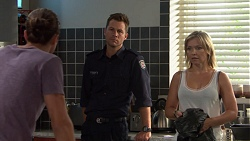 Tyler Brennan, Mark Brennan, Steph Scully in Neighbours Episode 7609