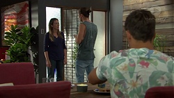 Sonya Mitchell, Tyler Brennan, Aaron Brennan in Neighbours Episode 7609