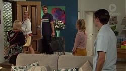 Sheila Canning, Brooke Butler, Gary Canning, Xanthe Canning, Ben Kirk in Neighbours Episode 7610