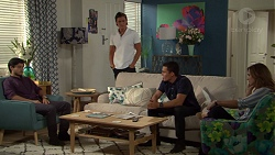 David Tanaka, Leo Tanaka, Jack Callaghan, Amy Williams in Neighbours Episode 7611