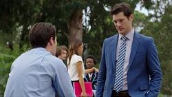 Ben Kirk, Elly Conway, Finn Kelly in Neighbours Episode 7614