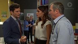 Finn Kelly, Elly Conway, Karl Kennedy in Neighbours Episode 7614