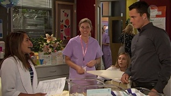 Paige Novak, Sandra Kriptic, Piper Willis, Jack Callaghan in Neighbours Episode 7617