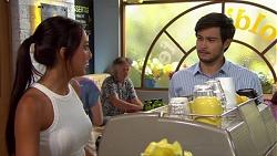 Mishti Sharma, David Tanaka in Neighbours Episode 7617