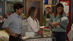 David Tanaka, Paige Novak, Aaron Brennan, Elly Conway, Gabriel Smith in Neighbours Episode 7617