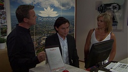 Paul Robinson, Leo Tanaka, Steph Scully in Neighbours Episode 7618