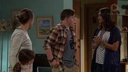 Sonya Mitchell, Nell Rebecchi, Callum Jones, Dipi Rebecchi in Neighbours Episode 7619
