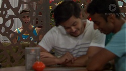 Aaron Brennan, David Tanaka, Tom Quill in Neighbours Episode 7620
