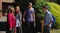 Terese Willis, Piper Willis, Tyler Brennan, Ben Kirk in Neighbours Episode 7621