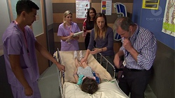 Sandra Kriptic, Dipi Rebecchi, Sonya Mitchell, Nell Rebecchi, Karl Kennedy in Neighbours Episode 7622