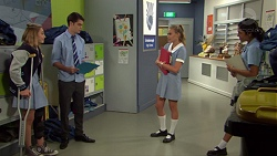 Piper Willis, Ben Kirk, Xanthe Canning, Yashvi Rebecchi in Neighbours Episode 7622