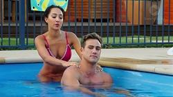 Mishti Sharma, Aaron Brennan in Neighbours Episode 7624