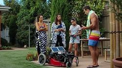 Mishti Sharma, Dipi Rebecchi, Kirsha Rebecchi, Aaron Brennan in Neighbours Episode 7624