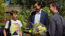 Jimmy Williams, Leo Tanaka, Jack Callaghan in Neighbours Episode 7624