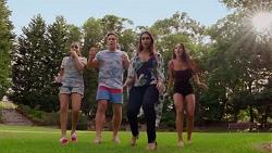 Kirsha Rebecchi, Aaron Brennan, Dipi Rebecchi, Mishti Sharma in Neighbours Episode 7624