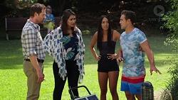 Shane Rebecchi, Dipi Rebecchi, Mishti Sharma, Aaron Brennan in Neighbours Episode 7624