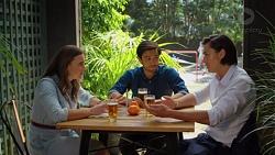 Amy Williams, David Tanaka, Leo Tanaka in Neighbours Episode 7625