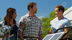 Dipi Rebecchi, Shane Rebecchi, Aaron Brennan in Neighbours Episode 7625