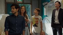 David Tanaka, Amy Williams, Jimmy Williams, Leo Tanaka in Neighbours Episode 7625
