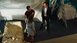Amy Williams, Jack Callaghan, Leo Tanaka in Neighbours Episode 7625