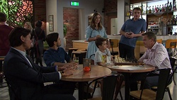 Leo Tanaka, David Tanaka, Amy Williams, Jimmy Williams, Gary Canning, Paul Robinson in Neighbours Episode 7625