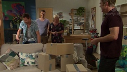 Shane Rebecchi, Jack Callaghan, Sheila Canning, Gary Canning in Neighbours Episode 7626