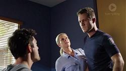 Finn Kelly, Ellen Crabb, Mark Brennan in Neighbours Episode 7628