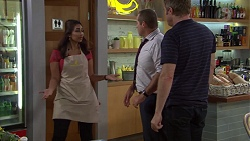 Dipi Rebecchi, Toadie Rebecchi, Gary Canning in Neighbours Episode 7628