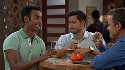 Tom Quill, David Tanaka, Paul Robinson in Neighbours Episode 7629