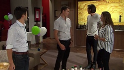 David Tanaka, Jack Callaghan, Leo Tanaka, Amy Williams in Neighbours Episode 7629