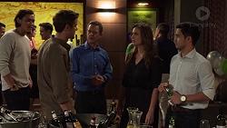 Leo Tanaka, Jezza Newell, Paul Robinson, Amy Williams, David Tanaka in Neighbours Episode 7629
