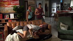 Aaron Brennan, Tyler Brennan, Jack Callaghan in Neighbours Episode 7629